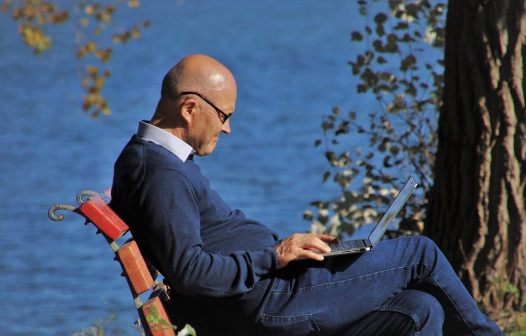 laptop, autumn, internet